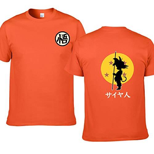 Dragon Ball Master Roshi T Shirt Men Summer Top Dragon Ball Z Super Son Goku Cosplay Funny T-Shirts Anime Vegeta Tshirt top (F159 Orange,M)
