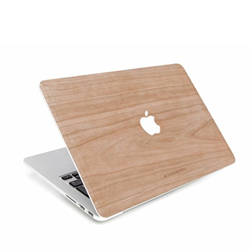 Woodcessories Skin kompatibel mit MacBook 13 Air Pro bis 2016 aus Holz EcoSkin Kirsche