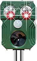 SiciMux [2021年改良] 猫よけ 鳥よけ 動物撃退器 害獣撃退器 猫よけグッズ 超音波 PIR赤外線センサー USB充電&ソーラー充電 猫撃退 猫退治 イヌよけ ネズミよけ 猫除け 鳥除け 糞被害対策 鳥害対策...