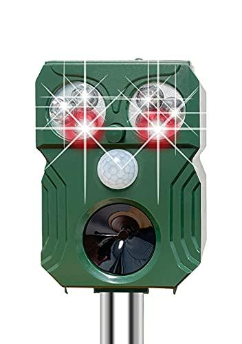 SiciMux [2021年改良] 猫よけ 鳥よけ 動物撃退器 害獣撃退器 猫よけグッズ 超音波 PIR赤外線センサー USB充電&ソーラー充電 猫撃退 猫退治 イヌよけ ネズミよけ 猫除け 鳥除け 糞被害対策 鳥害対策 LED強力フラッシュライト IP6