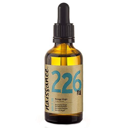 Naissance Huile de Bourrache Vierge (n° 226) - 50ml - 100% pure et naturelle - Flacon en verre ambré avec pipette