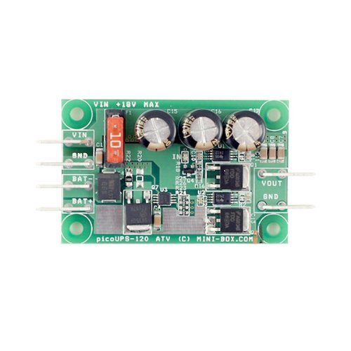 Mini-box picoUPS-120 ATX-DC-micro-USV-systeem/batterij-noodsysteem voor 12 V auto-omgevingen.
