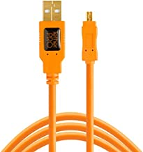 TetherPro USB 2.0 A Male to Mini-B 8 Pin, 15 feet (4.6m), Orange