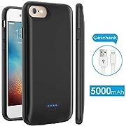 Licheers Akku Hülle für iPhone 6/6S/7/8, tragbare 5000mAh Battery Case für iPhone 6/6S/7/8 (4,7 Zoll) Akku Case Ladehülle (Schwarz)