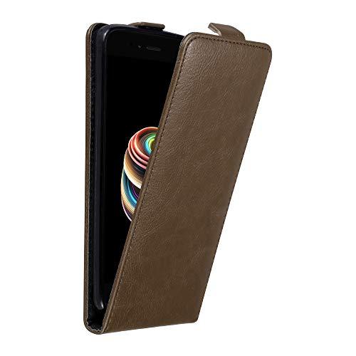 Cadorabo Hülle für Xiaomi Mi A1 / 5X in Kaffee BRAUN - Handyhülle im Flip Design mit Magnetverschluss - Hülle Cover Schutzhülle Etui Tasche Book Klapp Style