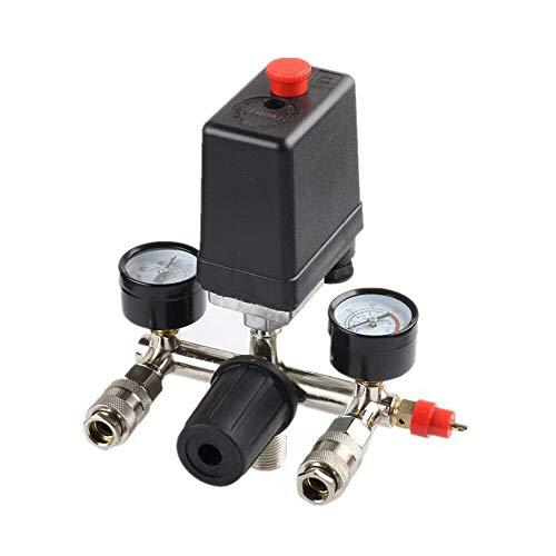 Druckregler Luftkompressorschalter mit Schnellkupplungen Luftregler Druckschalter Kompressorschalter Kompressordruckschalter