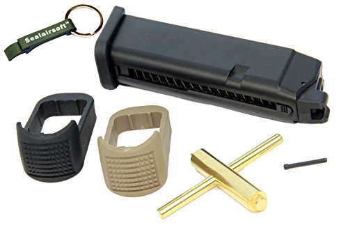 WE 24rd CO2 Airsoft Magazine for Marui G17 G18C G17 G18C G19 G23 G34 G35 GBB -Mobile Ring Included