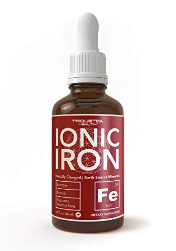 Ionic Liquid Iron Supplement (236 Servings) – Highest Absorption Rate Allows for Smaller Dose & Less Stomach Issues |Non-Flavored, Vegan, Ionically Charged, Earth-Sourced Minerals