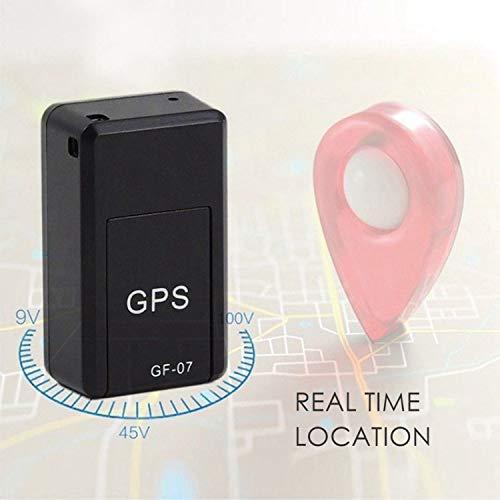 Mxjeeio?Mini GPS Tracker Localizador GPS Rastreador de Voz magnético GPS Antirrobo de SMS Seguimiento en Tiempo Real para Coche Vehículos Moto Bicicletas Niños Billetera Documentos (Negro)