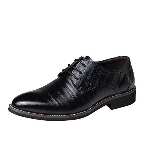 Business Schuhe für Herren/Skxinn Herrenschuhe Schnürhalbschuhe Business Anzugschuhe Atmungsaktiv Lederschuhe Oxford Halbschuhe Party Hochzeit übergrößen 37-48 Ausverkauf(Schwarz,40 EU)