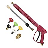 RIDGE WASHER Pressure Washer Gun with Extension Wand for Hot and Cold Water, Power Washer Gun with M22 Fitting, 5 Nozzle Tips, 40 Inch, 4000 PSI