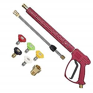 Idropulitrice Ridge Pistola con prolunga Bacchetta per Acqua Calda e Fredda, Pistola idropulitrice con Raccordo M22, 5 Punte ugelli, 101,6 cm, 4000 PSI