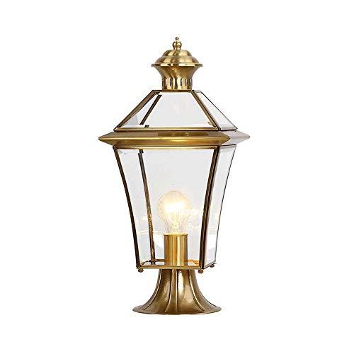 POST Tous Copper Pillar Phare European Outdoor Luxe Rétro Réverbère, pilier de cuivre étanche Lampe Décoration Paysage Lampe Villa Manor Lampe de pelouse JNWEIYU