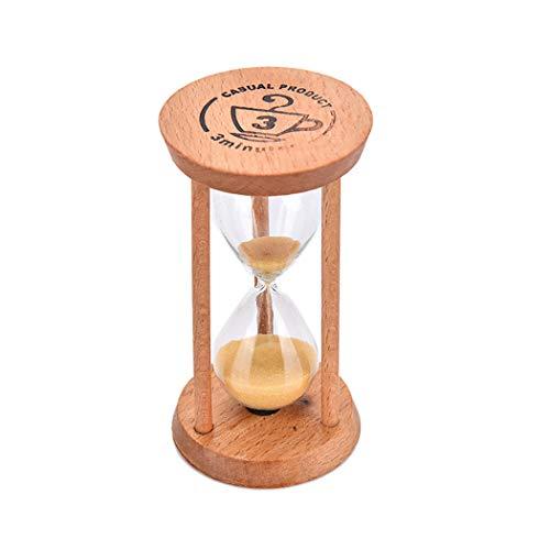 Justdolife Temporizador de ampulheta Multiuso 3 Minutos Areia Relógio para Restaurante