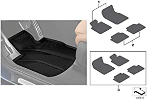 BMW Genuine Front Rear All Weather Car Floor Mats Set Rubber 51472450513