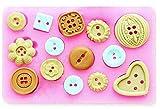 KIRALOVE Molde de Silicona - panqueque - Botones de modista - Uso alimentario -...