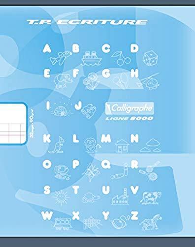 Calligraphe 108501C - Un cahier de travaux pratiques (gamme 8000 de Clairefontaine) 32 pages 17x22 cm 90g grands carreaux DL3mmIV et pages unies blanches, couverture carte offset, couleur aléatoire