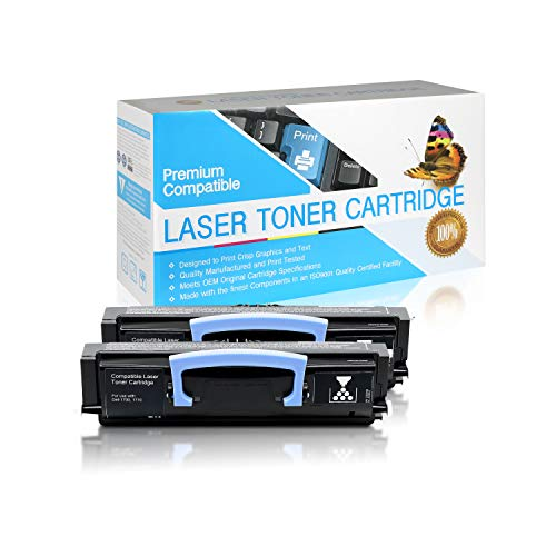 SuppliesOutlet Compatible Toner Cartridge Replacement for Dell 1700/1710 / 310-5399/310-7023/310-5400/310-7025/310-5401/310-7038/310-5402/310-7039/310-7020/310-7040 (Black,2 Pack)