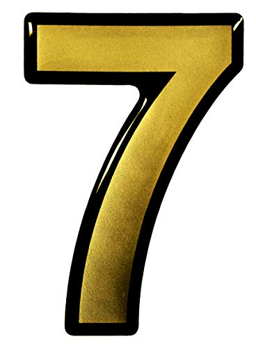 Bike Label 3D Number Stickers Gold 1x Number 7-900077 Elegant Door Signs House Numbers