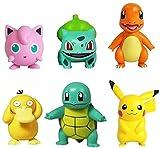 wdsheng 6 Unids / Set Pokemon Pikachu Squirtle Psyduck Venusaur Charizard Colección Conjunto De Muñecas Figuras De Acción Anime Moel Juguete Regalo 5-8Cm