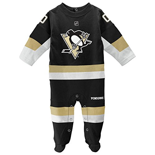 NHL Unisex Baby Pittsburgh Penguins Infant Hockey Footed Pajama (0/3 months)