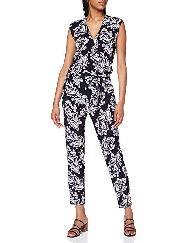 Comma Womens 81.006.85.2506 Overall 3/4 Jumpsuit, 59f2, 42