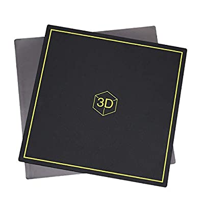 Iycorish 3D Printer Heated Bed Platform, 300x300mm New Flex Magnetic Bed Build Plate 2 In 1 For CR-10