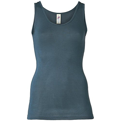 Engel Damen Trägerhemd/Trägershirt Bio-Wolle/Seide, Atlantik, 38/40