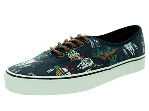 Vans Unisex Authentic (Desert Tribe) Blue/Graphite Skate Shoe 8.5 Men US / 10 Women US