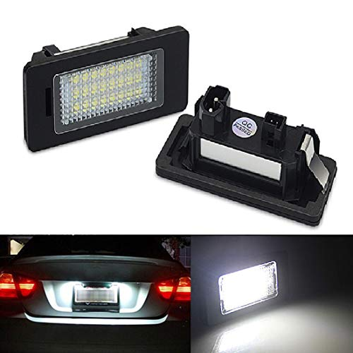MOLEAQI 2 Piezas sin Error LED luz de matrícula de Coche luz Estilo de Coche Apto para B-MW E39 E60 E70 E71 x5 X6 E60 M5 E90 E92 E93 M3 Accesorios de Coche