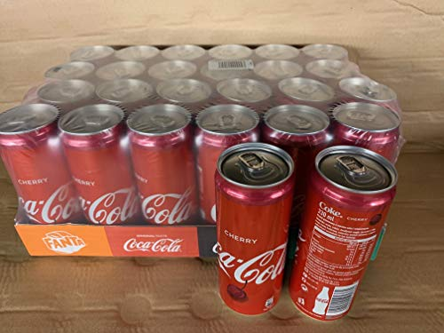 Coca Cola Cherry, (sabor cereza) 24 x 33cl SLIM Lata