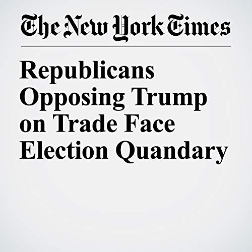 Republicans Opposing Trump on Trade Face Election Quandary copertina
