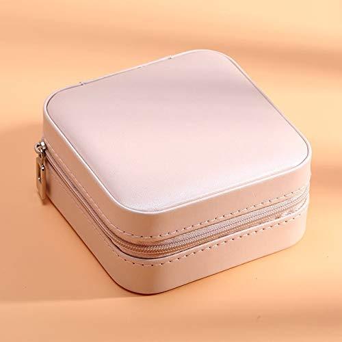 IAMZHL Caja de joyería de viaje cosmética caja de almacenamiento de cuero de la PU caja de almacenamiento anillo señora caja portátil joyería caja de almacenamiento collar - a3,1 capa negro