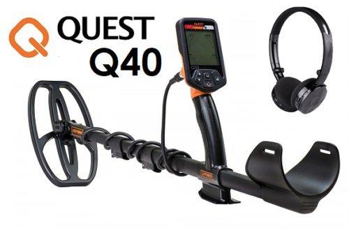Space-Shop Metalldetektor für Gold, Münzen, Metalldetektor Quest Q40, Q 40, Gold, Münzen