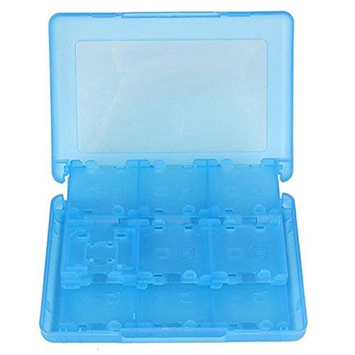 hou zhi liang Cartouche de Jeu Card Case, Box avec 16-in-1 Bleu Transparent Support pour Jeux Nintendo commutateur 1 pcs