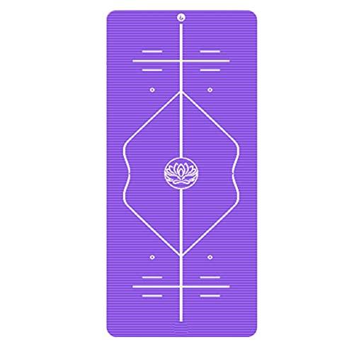 KOKIN Esterilla de Yoga Insípido, Colchoneta Yoga Antideslizante Yoga Mat con Líneas de Orientación Alfombrilla Pilates, para Ejercicios para Yoga,Pilates y Ejercicios de Piso, 185 * 80 * 1.5cm / 1