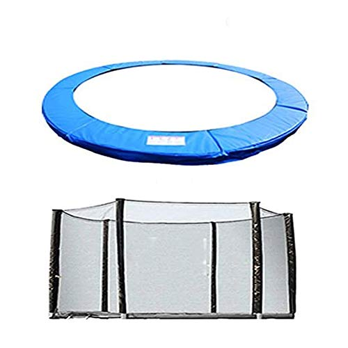 Greenbay Trampoline Replacement Safety Spring Cover Padding Pad + Safety Net Enclosure Surround 8FT Blue