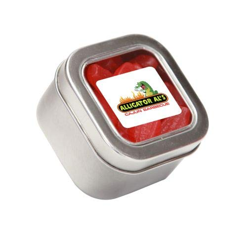 Lowest Prices! Swedish Fish in Sm Square Window Tin