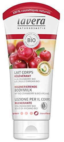 Leche corporal regenerante de Lavera con arándanos bio & aceite de argán...