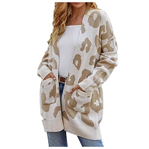 Long Sweaters for Women Women's Open Front Long Sleeve Boho Boyfriend Knit Chunky Cardigan Sweater