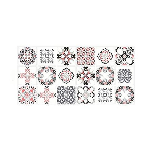 Vinilos para azulejos de pared Patrón de azulejos helados Etiqueta engomada de la cocina Cocina Baño Decoración de pared impermeable resistencia al desgaste PTVC PTVC Aislamiento térmico