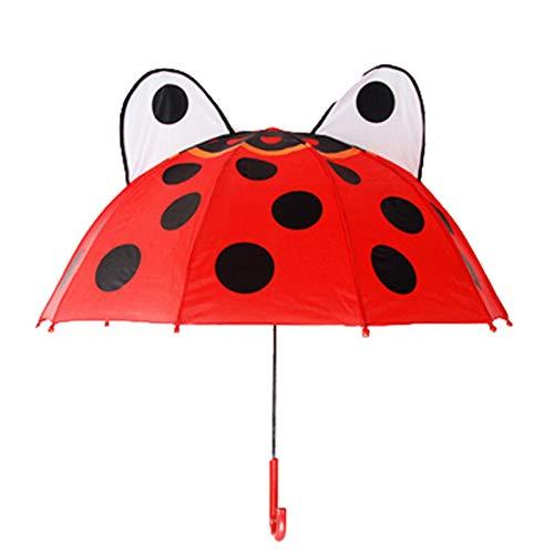 Niedliche Cartoon Kinder Regenschirm Kreative langes Griff 3D Ohr Modellieren Kinder Regenschirm Für Jungen Mädchen (Color : 1)