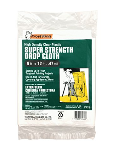 Frost King P470 Super Strength High Density Drop Cloth, White