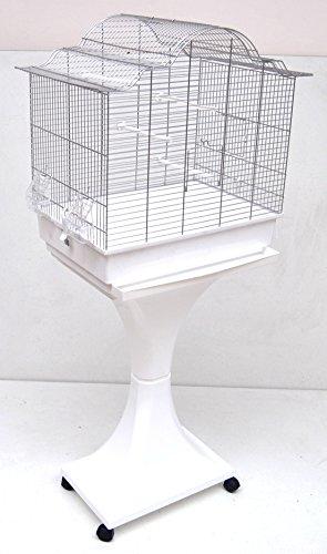 Mega Canaris Cage à oiseaux pour perruche avec support