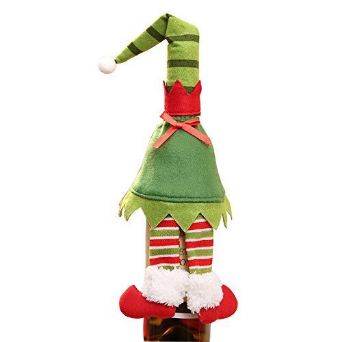 Happy-L Decoraciones, 3pcs / Lote Elf de Navidad Rojas Juego
