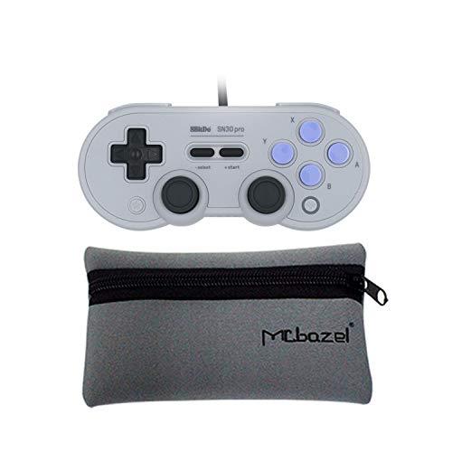 Mcbazel 8BitDo SN30 Pro Controller Gamepad USB cablato con custodia di archiviazione per NS Switch / Windows / Raspberry Pi / Steam