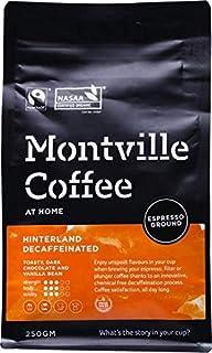 MONTVILLE COFFEE Hinterland Blend Espresso Ground Decaf Coffee 250 g, 250 g