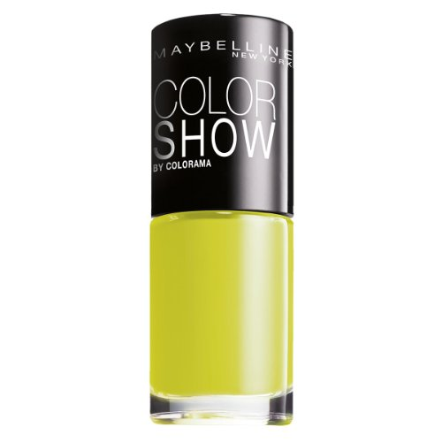 Maybelline New York Make-Up Nailpolish Color Show Nagellack Pow Green / Ultra glänzender Farblack in leuchtendem Grün, 1 x 7 ml