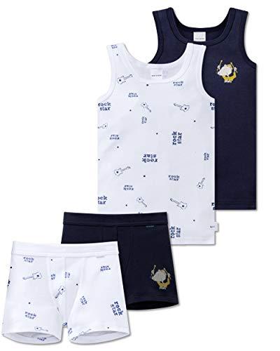 Schiesser Jungen - Unterwäsche Set Unterhemd + Shorts aus der Serie Ratte Henry (104)