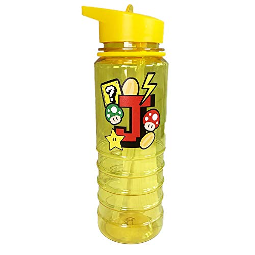 The Supreme Gift Company Personalised Plastic Drinks Water Bottle Kids Gamer Initial on Yellow Bottle (800ML)
